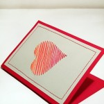Card for Valentine's day (paper and thread)