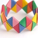 Hese bracelets made of strips of paper