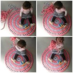 Crochet knitted rug