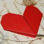Origami Valentine's Day ecard