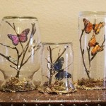 Decorative composition with butterflies