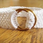Bracelet or belt with weaving a macrame
