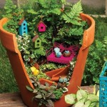A garden in a flower pot