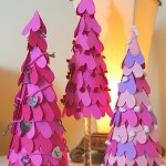 Cute Valentines Day ideas. Tree of paper hearts