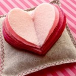 Healthy idea for Valentines Day. Aromatherapy pillow with hearts