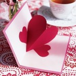 Valentine card with 3D heart