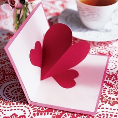 Valentine card with 3D heart DIY is FUN – Simple Valentine Cards