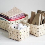 How to weave a basket of veneer