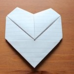 Simple paper envelopes for Valentine's Day greetings