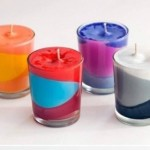 Handmade color aromatic candles