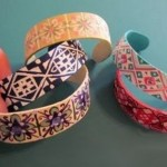 Bracelets made of wooden icecream sticks