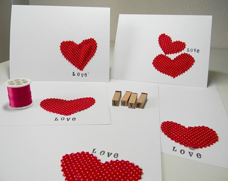 36 Valentines Day ideas for cards and presents DIY is FUN – Creative Homemade Valentines Day Cards