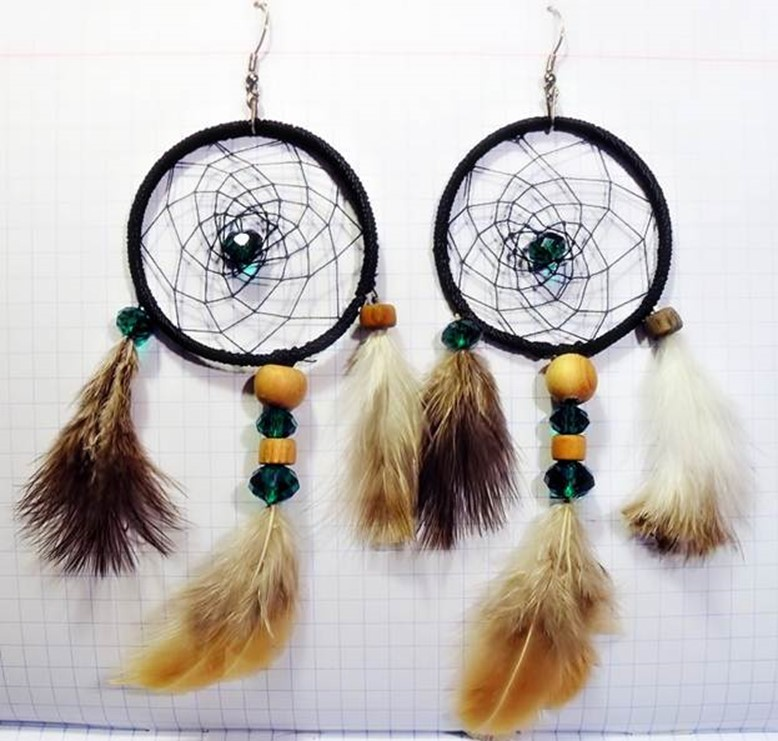 How to make dreamcatcher earrings diy is fun for How to create a dreamcatcher