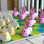 Rabbit vs. chicken. How to make homemade funny checkers for kids