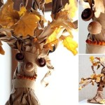 A tree out of a paper bag. Easy and fun crafts for kids