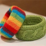 How to make knitted bracelet with your own hands