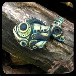 How to make polymer clay creative figure. Biomechanical fish