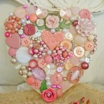 Valentine's day coming soon. What can be done with buttons to congratulate your loved one