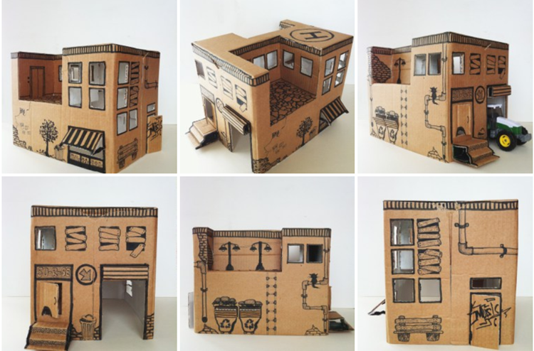 Instruction from Mom: how to make a simple toy house from ...
