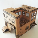Instruction from Mom: how to make a simple toy house from a cardboard box
