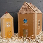 How to make a cardboard doll's House with their own hands. Simple toy or original package for special gift.