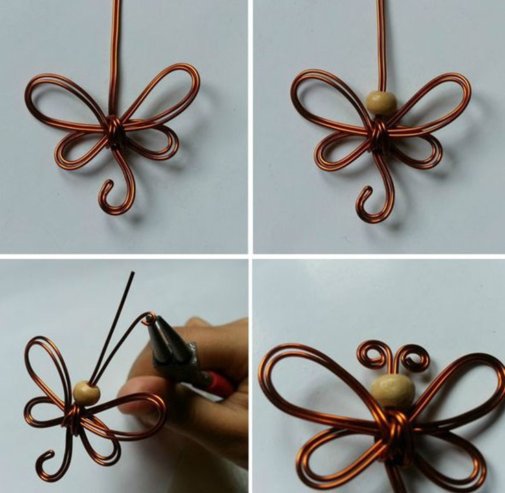 How to make butterflies of the wire with their hands. Tutorials ...