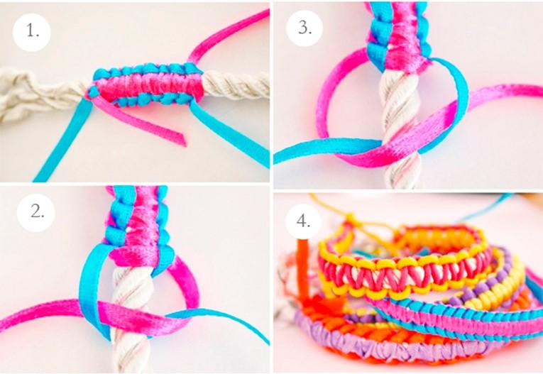 Как из сделать лент браслет