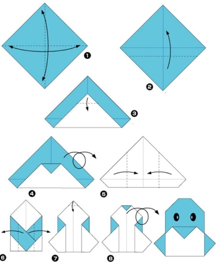 Квадрат из бумаги схема фото 535