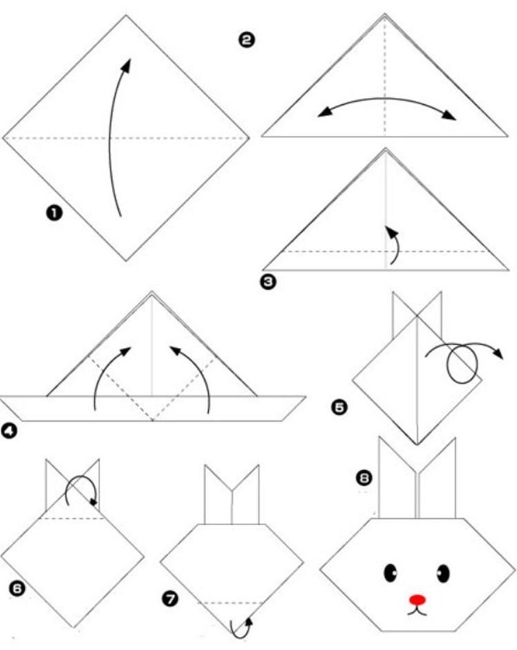 Bunny Origami   Skip To My Lou   942x749