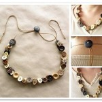 What can be made of buttons: Handmade necklace with adjustable buckle