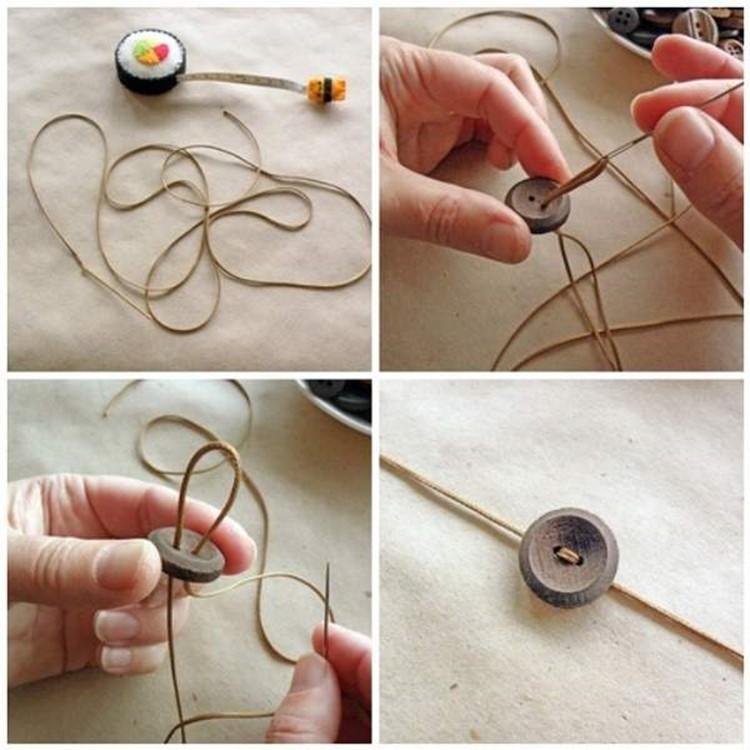 What can be made of buttons: Handmade necklace with adjustable buckle – DIY is FUN