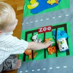 How to make a children's development mat with their hands
