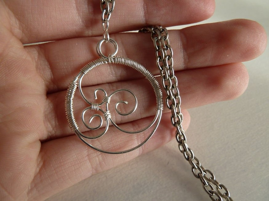 How to make your own openwork wire pendant – DIY is FUN
