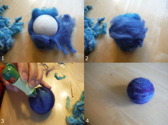 How to DIY 'The Solar System' of wool with their own hands ...