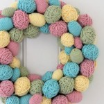 How to DIY decorative Easter egg wreath
