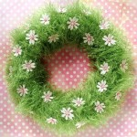 Fluffy Easter wreaths