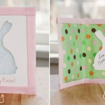 How to make Easter greetings cards with rabbit