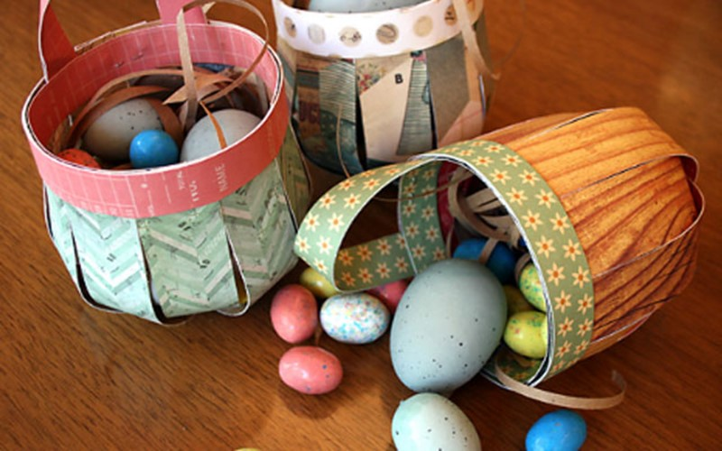 Simple Easter Basket Ideas For Kids Of Thick Paper DIY Is FUN