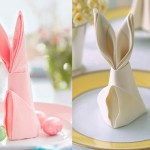 Easter bunny from napkins