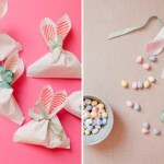 Eared bags for candy: Simple Easter idea for kids