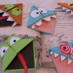 Homemade bookmarks in the form of monsters