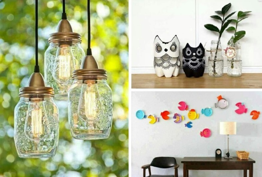 10 home decor ideas for small spaces from unnecessary for Waste material things for decoration
