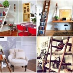 Unusual interior design idea: 12 ways to use portable ladders