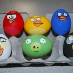 Coloring Easter eggs ideas: favorite game characters