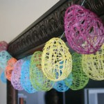 Eggs of threads. Simple Easter crafts for kids to make with their own hands