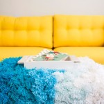 How to DIY handmade rug of pompoms