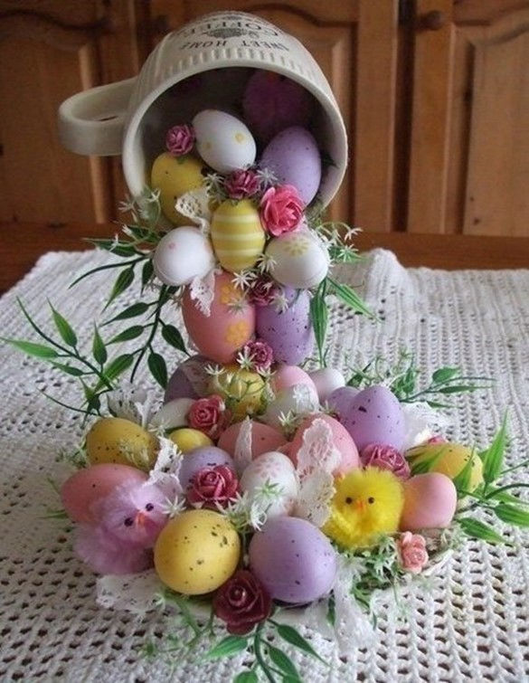 How to make unique easter gifts bowl of plenty diy is fun this souvenir will be a wonderful decoration for festive table or important gift for a friend colorful composition with flowers and easter eggs will create negle Gallery