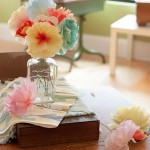 How to DIY simple flower crafts of paper with children