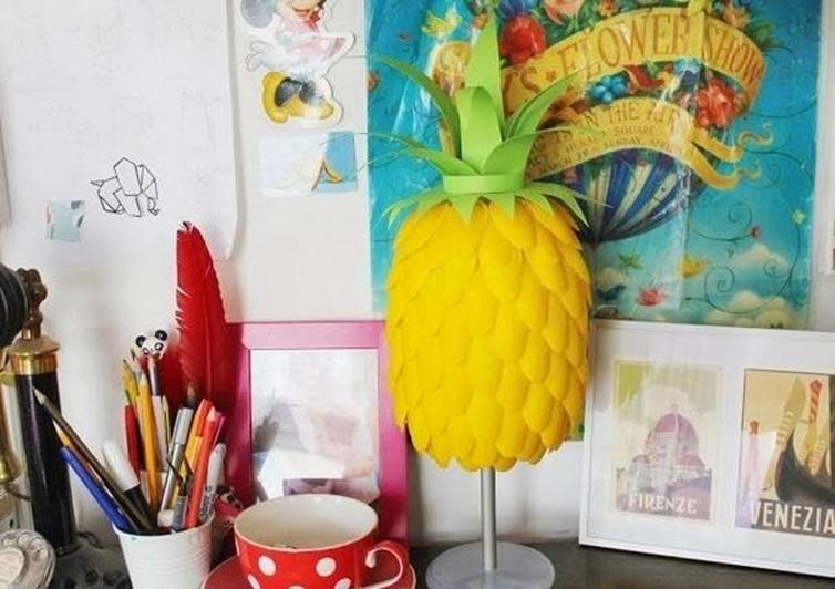 How To Diy Handmade Lighting With Plastic Spoons Diy Is Fun