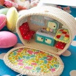 Cute knitted camper. The idea for a handmade children's toy